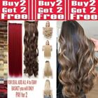 """1pc long 24"""" hair extensions clip in feels real Red Browns Blonde Highlight Plum"""