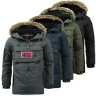 Geographical Norway Herren Winter Schlupfjacke Winterjacke Jacke Sehr warm Neu