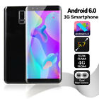 "S9 Big Screen 5.7"" Unlocked 3g Smartphone Dual Sim Android6.0 Mobile Phone Gps"