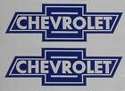 Chevrolet Old School Pair Emblem Vinyl Sticker Decal ~ Any Color ~ 3 Sizes