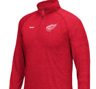 NHL Detroit Red Wings 1/4 Zip Long Sleeve New Mens Sizes MSRP $50 $19.99 USD on eBay