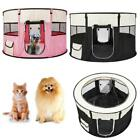 Pink/Black Small Circular Pet Dog Cat Tent Playpen Exercise Play Pen Soft Crate