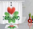 72in Long Bathroom Waterproof Fabric Shower Curtain Liner Love Ireland Clover