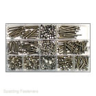 630 Assorted A2 Stainless M3 Hex Bolts Plain Full & Nyloc Nuts, Flat Washers