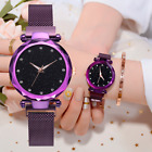 Ladies Watch Starry Luxury Diamond Dial Women Bracelet Watches Magnetic Buckle image