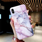 Reflective Marble Pattern Shockproof Case Soft TPU Phone Cover For iPhone