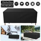 Garden Patio Furniture Cover Waterproof Rectangle Outdoor Table Sofa Cover Black