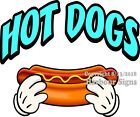 Hot Dogs DECAL Choose Your Size  Concession Food Truck Vinyl Sticker M
