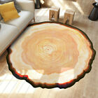 3D Large Annual Ring Round Carpet Anti-Skid Area Rug Home Bedroom Floor Mat RS