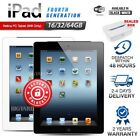 New&Sealed APPLE iPad 4th Gen Black White 16 32 64GB Retina PC Tablet WiFi Only