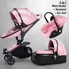 3in1 Baby Pram Newborn Car Seat Pushchair Travel System Carrycot Buggy