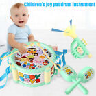 4pcs Kids Baby Instruments Educational Toy Kit Drum Small Sand Hammer Horn Gifts
