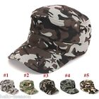 Fashion Unisex  Camouflage Casquette Outdoor flat-top Cap Sports Hat