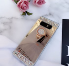 Samsung Galaxy S8 S9 Plus Note 8 9 Bling Glitter Crystal Mirror Back Case Covers