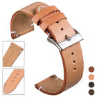 Genuine Leather Watch Band 12 14 16 18 20 22 24mm Quick Release Pin Wrist Strap image