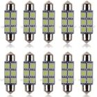 10x 31 36 39 41mm Car Interior Light Number Plate Bulb C5w Festoon Led Bulbs