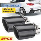2.5'' 63mm-In 89mm-Out Universal Carbon Fiber Car Exhaust Tip Pipe Muffler End