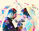 Custom Watercolor Wedding Portrait Digital Painting from Photo Anniversary Gift