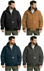 Carhartt Quilted Flannel Lined Duck Active JACKET, Hooded, Big & Tall, Mens J140