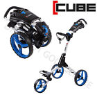 CUBE 3 WHEEL COMPACT PUSH PULL GOLF TROLLEY CART