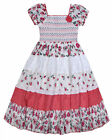 Girls Rose Dress Floral Lace Trim Gypsy Summer Dress 100% Cotton Age 3 -11 Years