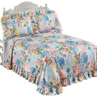 Abigail Plisse Floral Patchwork Ruffled Bedspread, by Collections Etc image