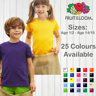 FRUIT OF THE LOOM KIDS VALUEWEIGHT T-SHIRT TEE CHILDRENS PLAIN SCHOOL TOP BOYS
