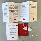 Eat, Drink and Be Married Personalised Concertina Wedding Invitations Invites