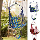 Outsunny Portable Padded Wooden Hanging Hammock Swing Chair Seat  Indoor Outdoor