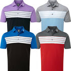 FootJoy Mens Striped Colour Block Golf Short Sleeve Polo Shirt - Athletic Fit