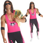Внешний вид - Licenced WWE Bret `The Hitman` Hart Wrestler Fancy Dress Costume Adult Wrestling