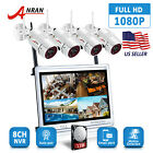 """ANRAN 8CH NVR 1TB Wireless CCTV Camera Security System 12""""Monitor Outdoor HDMI"""
