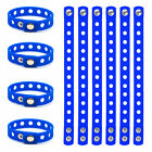 10x Lot Adult Kids Silicone Wristband for Charms Jibbitz Rubber Bracelet