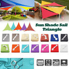 Waterproof Sun Shade Sail Patio Outdoor Top Canopy Block Cover Triangle
