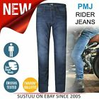 PMJ Rider Motorcycle Mens Slim Fit Jeans│EN 13595-2 Tested│100% TWARON│Mid Blue