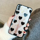 For iPhone Xs Max XR 7 8 + Bling Glitter Love Heart Bumper Case Protective Cover