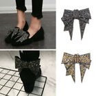 Внешний вид - Cute DIY Women Shoe Decorations Solid Color Bowtie Rhinestone Shoe Accessories