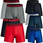 "Under Armour 1327415 Men's Boxer Brief UA Tech 6"" Boxerjock Underwear - 2 Pack"
