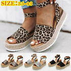 New  Women Platform Sandals Buckle Strap Casual Open Toe Fish Mouth Wedge Shoes