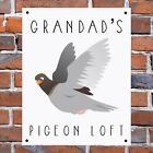 Personalised pigeon loft sign 2 sizes great novelty gift home pre drilled