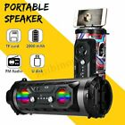 25W LED Bluetooth 4.2 Speaker Wireless FM Stereo Loud Bass Subwoofer Aux USB TF