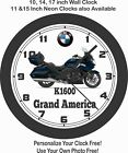 2019 BMW K1600 GRAND AMERICA MOTORCYCLE WALL CLOCK-YAMAHA, HONDA, SUZUKI