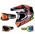 Scorpion VX-16 Offroad Ernee Air Crosshelm schwarz rot TWO-X Race Crossbrille