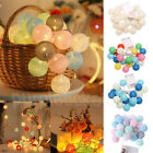 Led Globe Garland Cotton Ball String Fairy Lights Home Wedding Room Party Decor