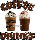 Внешний вид - Coffee Drinks DECAL (Choose Your Size) Concession Food Truck Vinyl Sign Sticker