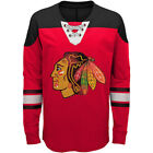 Chicago Blackhawks Youth NHL Red/Black Perennial Hockey Lace-Up Long Sleeve Tee $27.99 USD on eBay