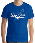 Los Angeles Dodgers BLUE T-Shirt Cotton UNISEX Adult Logo Jersey LA LAD S-2XL