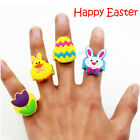 Cartoon Animal  Kids PVC  Happy Easter Ring Boys Girls  Jewelry Gift