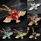 Cute Women Gold Plated Crystal Diamante Owl Pendant Necklace Jewelry Chain Ilcrf