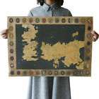 Game Of Thrones Houses Map Westeros And Free Cities Poster US